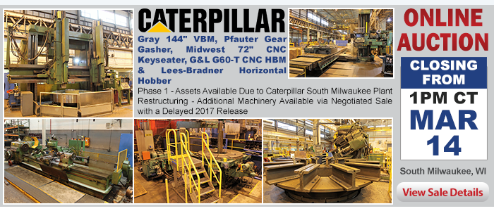 Phase 1 - Assets Available Due to Caterpillar South Milwaukee Plant Restructuring