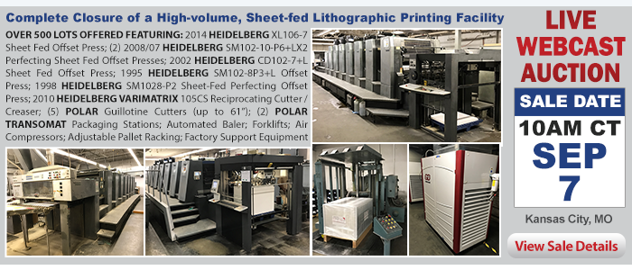 Complete Closure of a High-volume, Sheet-fed Lithographic Printing Facility