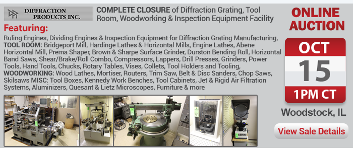 Complete Closure of Diffraction Grating, Tool Room, Woodworking & Inspection Equipment Facility