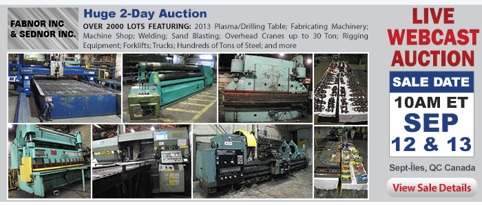 Huge 2-Day Auction - Fabnor, Inc & Sednor, Inc.