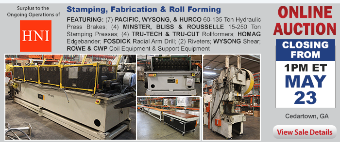 Surplus to the Ongoing Operations of HNI - Stamping, Fabrication and Roll Forming