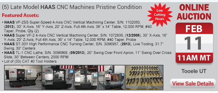 (5) Late Model HAAS CNC Machines - Pristine Condition