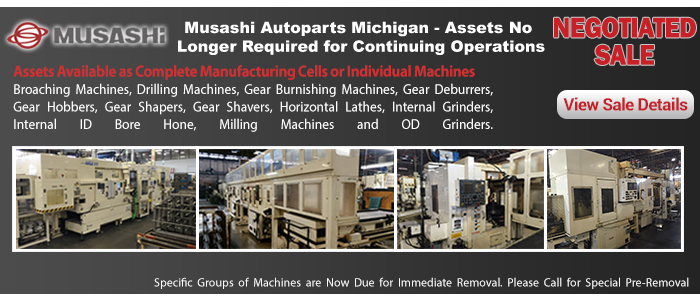 Musashi Autoparts Michigan - Assets No Longer Required for Continuing Operations