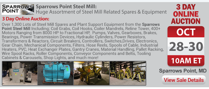 Sparrows Point Steel Mill - Huge Assortment of Steel Mill Related Spares & Equipment, Day #1