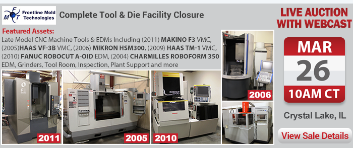Frontline Mold Technologies - Complete Tool & Die Facility Closure