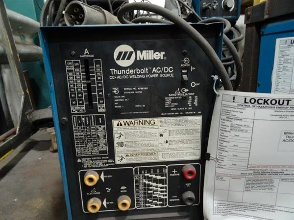 Miller Welders For Sale >> Used MILLER THUNDERBOLT CC-AC/DC | Perfection Machinery Sales