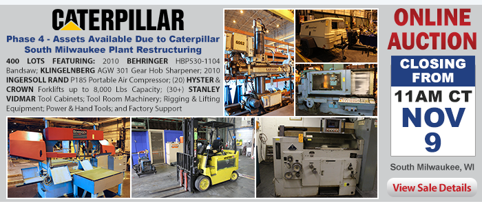 Phase 4 - Assets Available Due to Caterpillar South Milwaukee Plant Restructuring