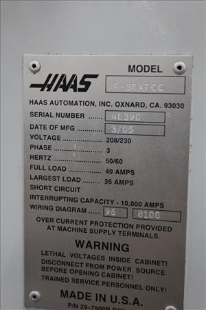 Used HAAS VF 3D-APC-Q | 36664 | Perfection Industrial Sales Haas Chip Conveyor Wiring Diagram on