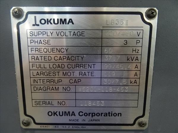 Used OKUMA LB35-II | Perfection Machinery Sales on