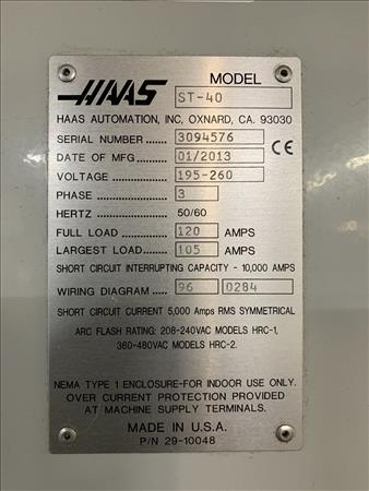 Used HAAS ST40 | Perfection Industrial Sales Haas Chip Conveyor Wiring Diagram on