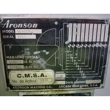 KOIKE ARONSON GE90CS TILT / TURN GEARED ELEVATION WELDING POSITIONER