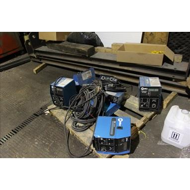 PALLET OF MILLER 60 WIRE FEEDERS / CONTROLLERS