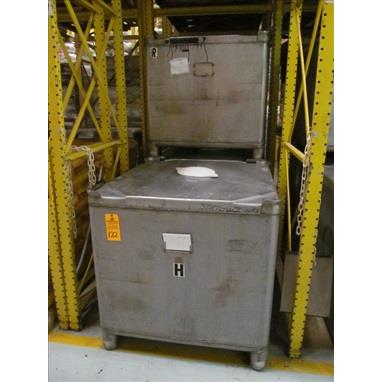 42 CU. FT STAINLESS STEEL TOTES, (35) AVAILABLE