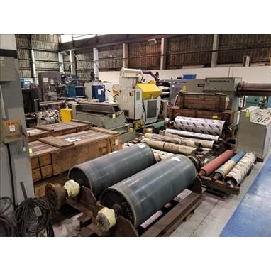 ASSORTED SPARE BRIDLE ROLLS, PINCH ROLLS, MISC. ROLLS FOR 60 ALUMINUM HUNTER COATING LINE