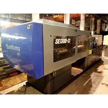 SUMITOMO SE130D-C1 143 TON 2-SHOT MULTI-COMPONENT INJECTION MOLDER