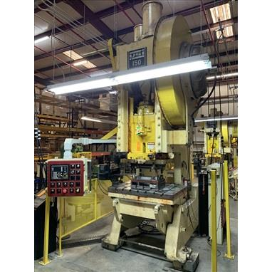 USI CLEARING 150 TON OBI PRESS