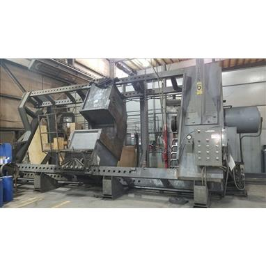 NUGIER 800 TON HYDRAULIC WHEEL PRESS