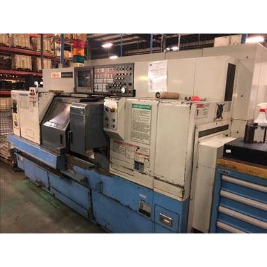 MAZAK MULTIPLEX 610 TWIN SPINDLE TWIN TURRET CNC LATHE W/ LIVE MILLING