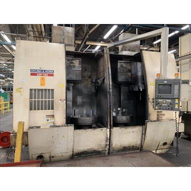 OKUMA & HOWA 2SP-V80 CNC TWIN SPINDLE VERTICAL LATHES, (3) AVAILABLE