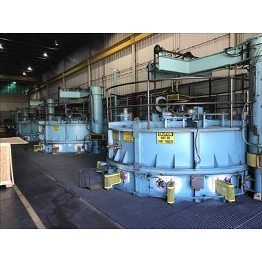 SURFACE COMBUSTION INDIRECT-FIRED CARBURIZING PIT FURNACE LINE W/ (3) CARBURIZING FURNACES