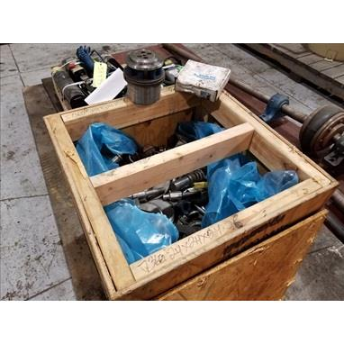 24 X 24 X 24 BOX OF ASSORTED THICK TURRET PUNCH TOOLING, INCLUDING WILSON TOOL SERIES 80