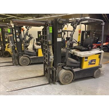 CROWN FC4525-50 5000 LB. ELECTRIC FORKLIFTS, (2) AVAILABLE
