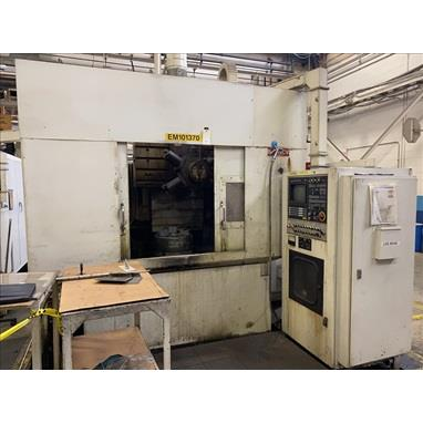 NEW BRITAIN 1115NCV CNC TWIN SPINDLE VERTICAL TURRET LATHE
